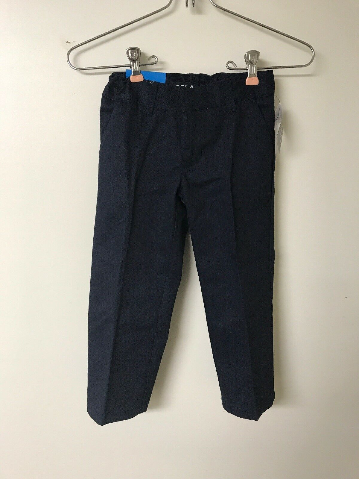Primary image for French Toast Little Boys' Flat Front Double Knee Pant Adjustable Waist, Navy, 4