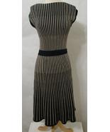 MARC By Marc Jacobs Dress Black & Gold Wool Metallic Sleeveless Knit Fla... - £102.62 GBP