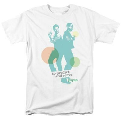 To Predict & Serve t-shirt Psych TV series Shawn & Gus graphic tee NBC592
