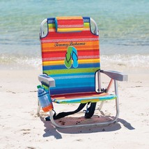 Backpack Beach Chair Tommy Bahama Adjustable Folding Multi Stripe Campin... - $45.05