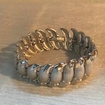 Vintage Trifari Signed Finely Etched Silvertone Swirl Crescent Link Bracelet –  - $18.55