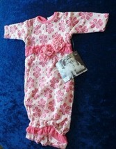 Cach Cach Cachcach Baby Girl's Gown 0-3 Lacy Lace Pink Flower NEW NWT - $39.59