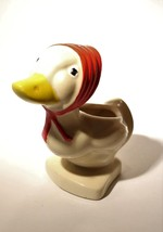 Vintage Duck w/Red Scarf Hand Painted Pottery Planter - $11.95 CAD