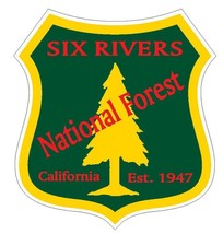 Six Rivers National Forest Sticker R3312 California - $1.45+