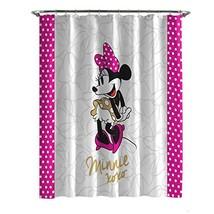 Jay Franco Minnie XOXO Shower Curtain, White Dots - $21.37