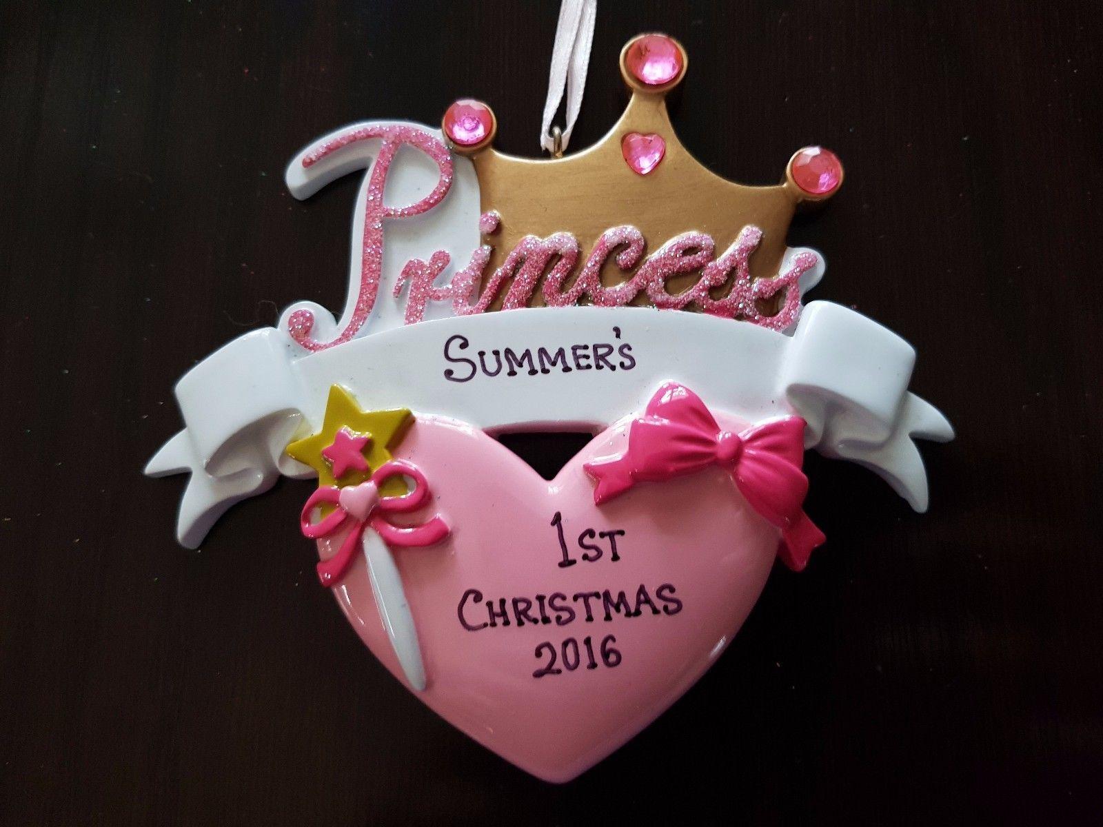 Baby Girl Christmas Personalized Christmas Ornament Princess Holiday Gift