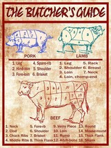 Butcher's Meat Guide Pork, Lamb, and Beef - $29.95