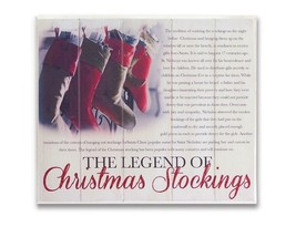 "13.5"" The Legend of Christmas Stockings Vintage Style Hanging Wall Plaque - $18.50"