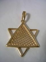 JEWISH STAR PENDANT WITH A HIGH POLISH FINISH I... - $93.46