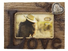 "Rustic Love Picture Frame 4"" X 6"" Photo Horizontal - Decorative Table Top - $23.33"