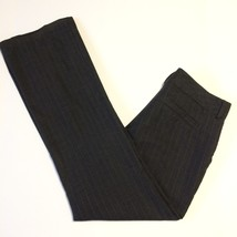 Banana Republic Pants Ladies Size 4 Jackson Fit Dark Gray Pinstripe Wool Blend - $15.44