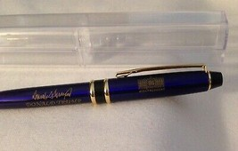 TRUMP WHITE HOUSE PEN DONALD GOLD SIGNATURE BLUE GOLD BALLPOINT EXCELLEN... - $11.60