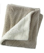 "Ulta Plush Throw Blanket 50"" x 60"" Grey/Champagne - Brand New in Packaging - $18.99"