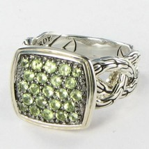 John Hardy Classic Chain Lava Ring Green Peridot Sterling Silver Sz 6 NW... - $358.89
