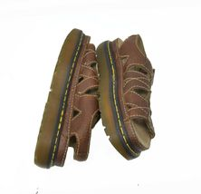 Doc Dr. Martens Women's Sz 7 EU 38 Brown Pebbled Leather Buckle Sandals AW004 image 6