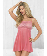 Escante Straight Neck babydoll Size 3X Style 57590 Coral/Pink - $26.70