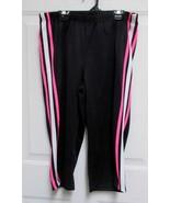 Sz L Fame 4 Fifteen Womens Juniors Black w/Pink White Stripe Poly Athlet... - $12.50