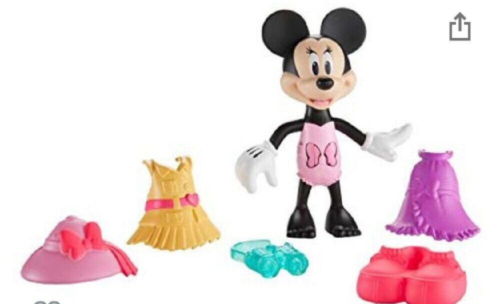 Fisher-Price Disney Minnie Mouse Snap N' Pose Safari Stylin' Minnie Figure Doll