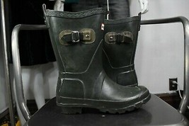 Hunter festival boots 5 rubber wellies rain green womens waterproof - $50.00