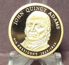 2008-S John Quincy Adams Presidential Deep Cameo Proof Dollar #01032 - $8.79