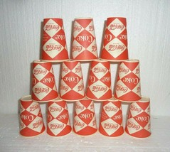 12 Vintage Lily Soda Cups Ask For It Either Way Coke Coca Cola Diamond Pattern - $17.41