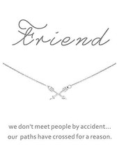 CYBERNY Best Friends Cross Arrow Pendant Necklace Friendship (best friend) - $16.29