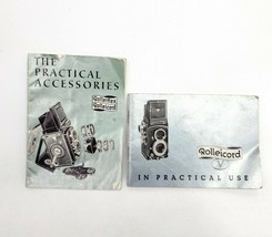 Vintage Rolleiflex Manual Rolleicord Practical Accessories Booklet Lot - $17.67