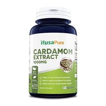 Cardamom Extract 1000mg 200 Capsules Non-GMO & Gluten Free Helps Reduce Blood Pr