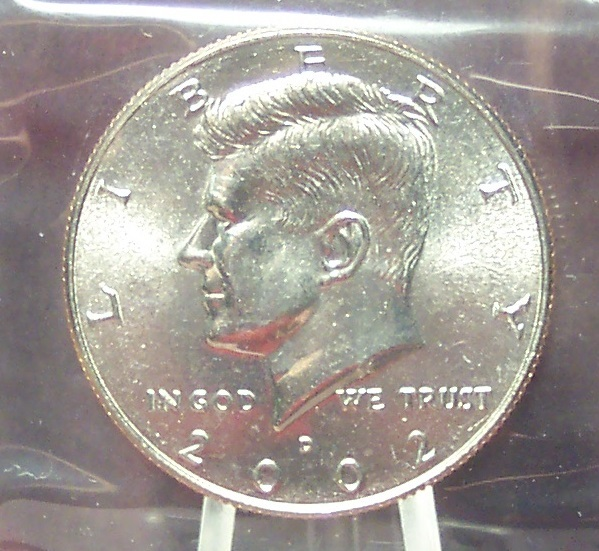 Primary image for 2002-D Kennedy Half Dollar BU In the Cello #0932