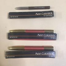 New Old Stock Avon Colorstick 2 Branded Peach For Lips & Kohl Brown For Eyes - $9.89