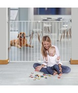 Baby Gate 36 in. H Super Wide Extending Self-Locking Indicator Steel White - $64.65