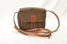 CELINE Macadam PVC Leather Mini Shoulder Bag Brown Auth 9715 - $240.00