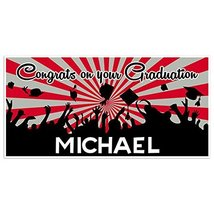 Scarlet And Gray Graduation Banner Personalized Class of 2018 Party Back... - £16.88 GBP