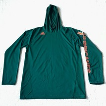 Men's Miami Hurricanes Hooded Long Sleeve Athletic Shirt Large New Witho... - $29.69