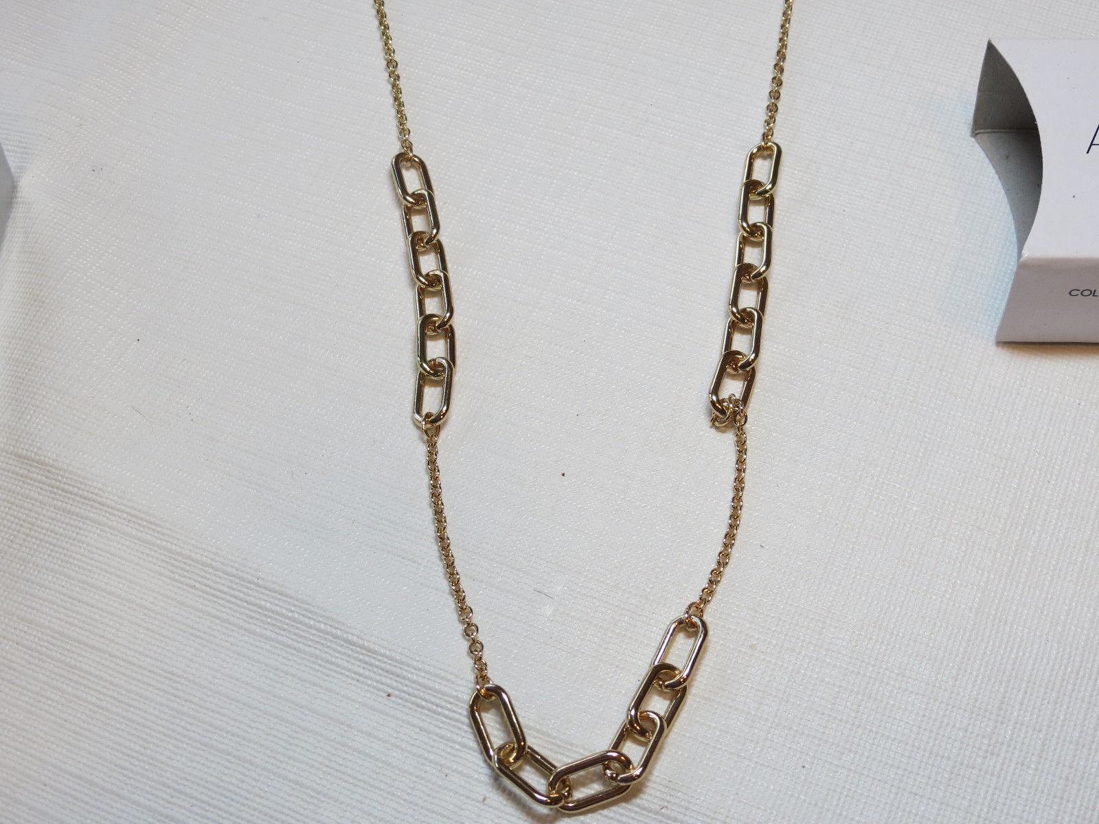 "Ladies Womens Avon Sparkling Links Long Necklace 36"" +3"" ext  F3948691 NIP;; image 2"