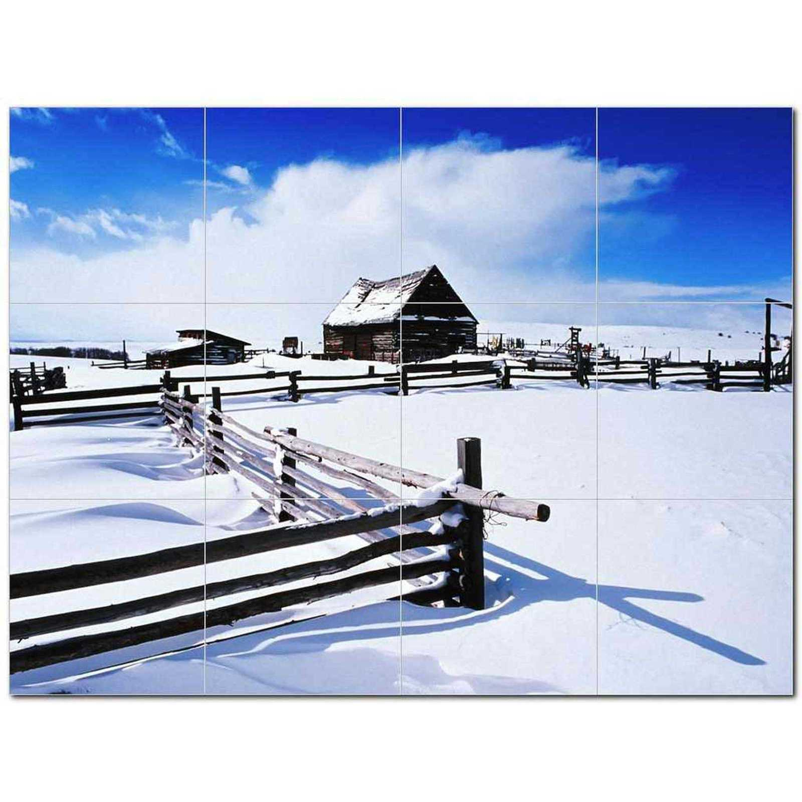 Primary image for Winter Photo Ceramic Tile Mural Kitchen Backsplash Bathroom Shower BAZ406401