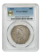 1810 50c PCGS MS63 - Lovely, Early Bust Half - Bust Half Dollar - $5,344.70