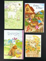 Lot of 4 Assorted Easter Greeting Cards Various Brands With Envelopes New - $11.34