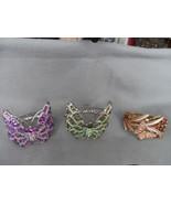 Beautiful rhinestone butterfly hinge cuff bracelet - $14.99+