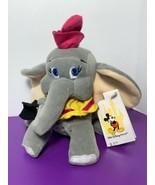 "Dumbo Flying Elephant with Magic Feather 6"" Bean Bag Plush Walt Disney W... - $14.84"