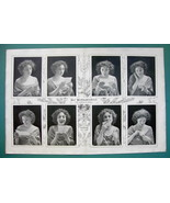 "CHRISTMAS LETTER Girl in Love 8 Emotions - VICTORIAN Era Print 14.5"" x 22"" - $16.20"