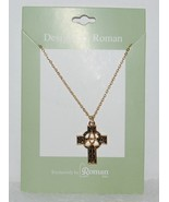 Roman Inc 60082 Celtic Cross Trinity Necklace Gold Colored - $13.94