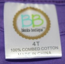 Blanks Boutique Long Sleeve Empire Waist Purple Ruffle Dress Size 4T image 5