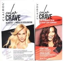 1 Clairol Color Crave Bleach Kit & Candy Apple Bold Semi Permanent Hair Dye Set - $23.99