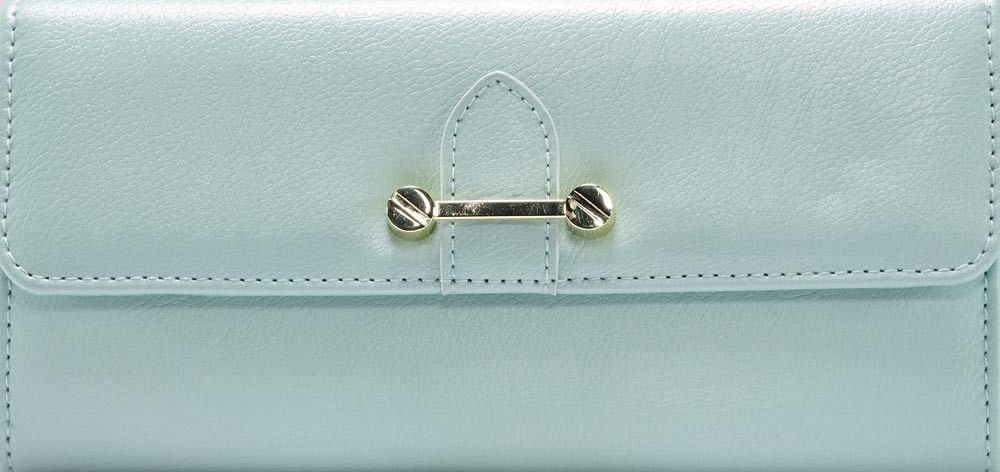 Primary image for No Boundaries Ladies Clutch Wallet Mint Sage With Gold Accents NEW