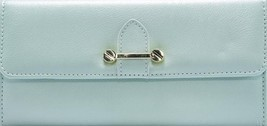 No Boundaries Ladies Clutch Wallet Mint Sage With Gold Accents NEW - $313,81 MXN