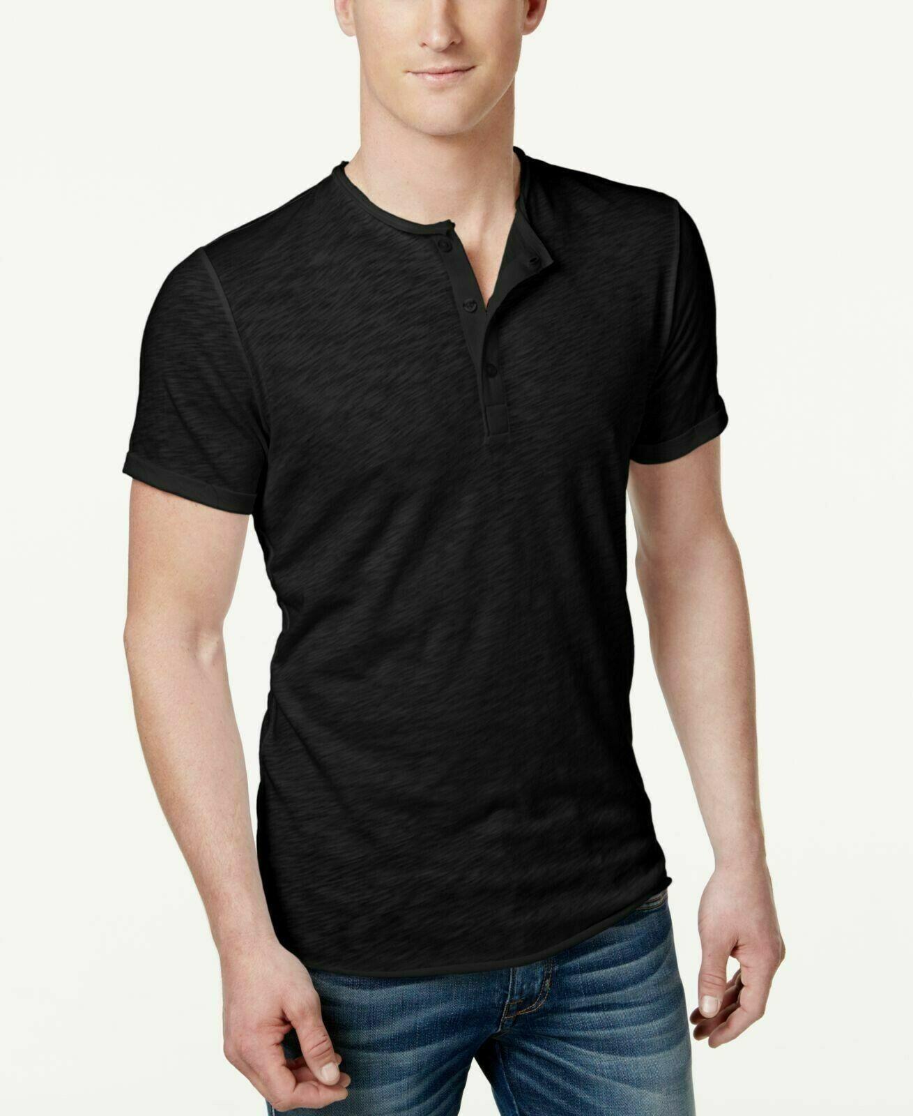American Rag Mens Henley T Shirt Black Size Small - NWT