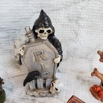 Cemetery Fairy Garden Kit, Miniature Halloween Village Set, Grim Reaper Ghost image 5