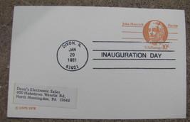 Post card Commemorative Inauguration Day 1981 DIXON ,IL  Ronald Reagan - $9.98