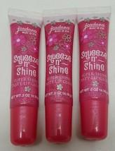 Jordana Squeeze N Shine Super Shiny Tasty Lip Gloss 13 Sugar Lips Lot of 3 - $10.88
